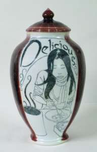 Illustrated jar by Andrew Boswell
