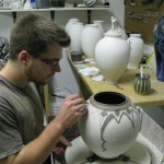 Andrew Boswell - Illustrated porcelain pottery.