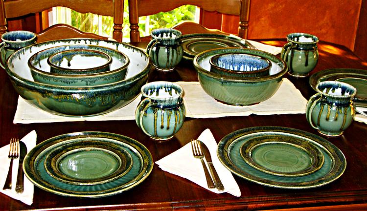 Celedon dinnerware