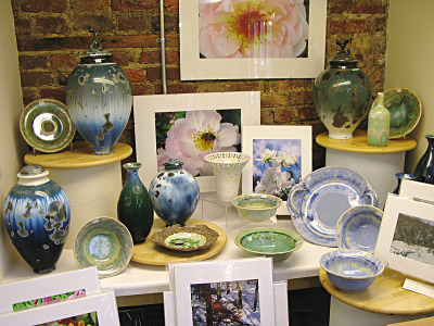 Crystaline pottery and photography.